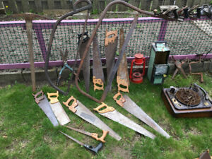 Outils et autres objets anciens / Antique tools and other items