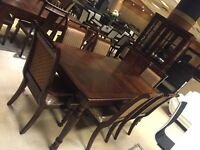 classic dining table with chairs