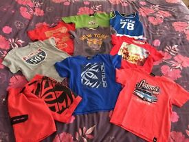 Lovely boys t-shirts and swimming shorts