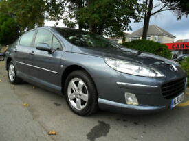 PEUGEOT 407 2.0 HDi 2009 SPORT COMPLETE WITH M.O.T HPI CLEAR INC WARRANTY