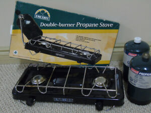 Camping Stove and Propane Cylinders