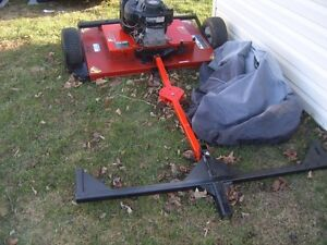 swisher tow behind lawn mower
