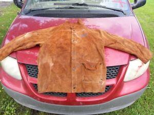 manteau de soudeur toute en cuir