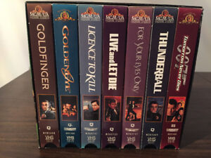 The James Bond VHS Collection