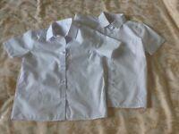 Boys white short sleeve shirts x 2 age 5-6 years