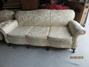 Antique Chesterfield/Chair/Ottoman