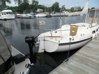 TANZER 22 FIN KEEL SAILBOAT