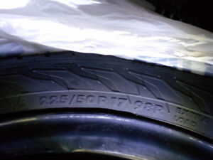 PRICE REDUCED!  4 x 17 inch winter tires with rims
