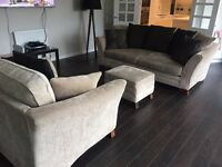 Couch / sofa , love seat chair & foot stool for sale