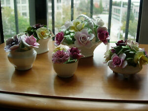 Bone China Flower Baskets - PPU Saturday a.m.