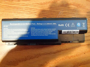 USED rechargeable li-ion battery pack laptop gateway acer