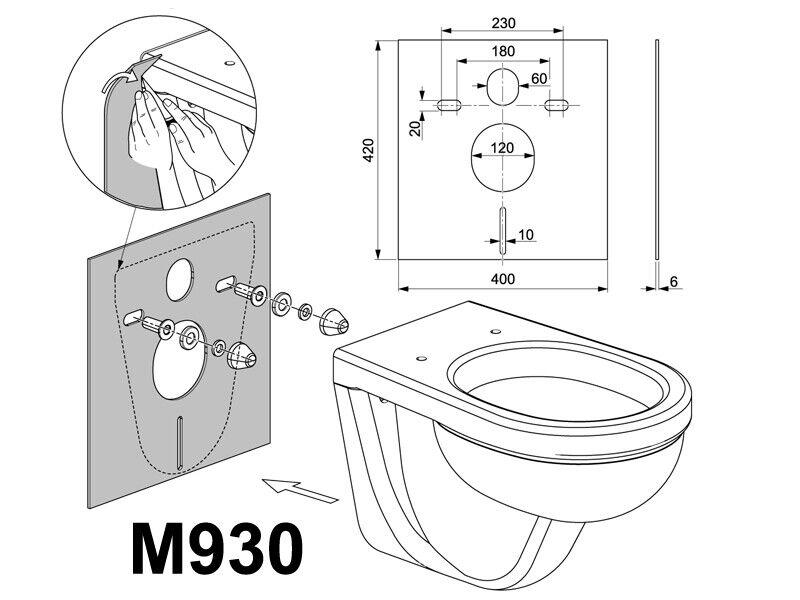Schallschutz-Set Schallschutz-Matte für Wand-WC und Bidet M930