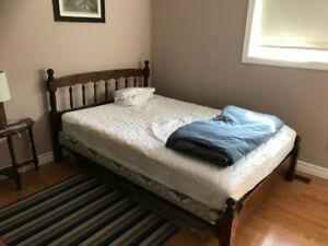 Double Bed Frame / mattress + box spring available.