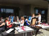 your group can have a fun paint time @ your location & time
