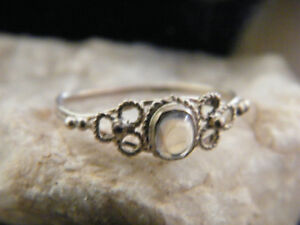 1970's Moon Stone Silver Ring