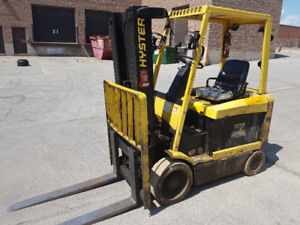 Hyster 60 Electric forklift for sale, 6000 lbs capacity.