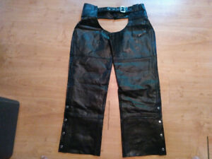 2 pairs of leather chaps