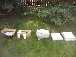 lots of tiles big and small sell all for 75 cash