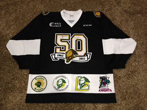 Dual Signed Mitch Marner & Max Domi CCM London Knights Jersey