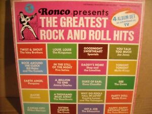 Ronco presents The Greatest Rock & Roll Hits 4 LP Box Set!
