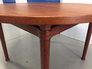 DANISH refinished TEAK COFFEE/SIDE TABLE - Mid Century Modern
