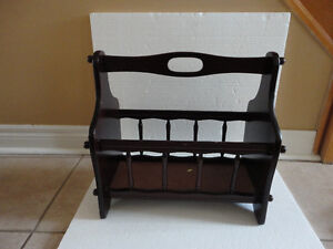 Decorative solid wooden magazine stand holder London Ontario image 1