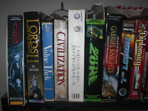 Classic PC Games used/new some collectable from various years.