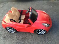 Fever Ferrari motorised kids sit in car