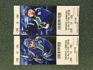 **2 Canuck Tickets for Sale Nov 29th VS Wild***