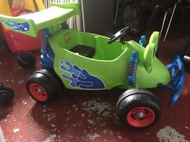 Toy story electric ride on. Outdoor ride on. Children's toy