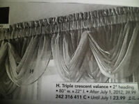 Valances Voile Sheers & Curtain Rod