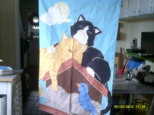 LARGE DOUBLED SIDED CAT FLAG