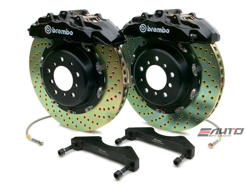 Brembo Front Gt Brake 8pot Caliper Black 380x34 Drill Disc Benz X164 W164 V251