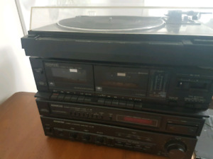 Kenwood receiver, radio, cassette and record player set $70