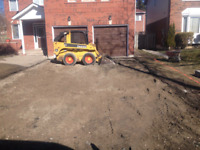 Skid steer excavating & hauling services