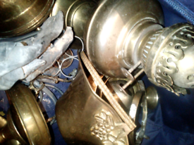 LOVELY ANTIQUE BRASS ITEMS UNPOLISHED