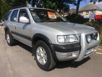 Vauxhall Frontera 3.2i V6 24v auto 2002 Limited HPI CLEAR WARRANTY INC M.O.T