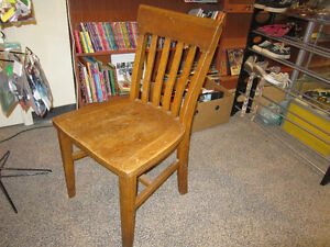 Solid Oak Hardwood Chair For Sale
