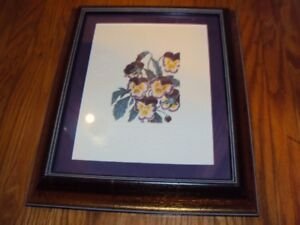 Pansey lithograph in professional gold frame 14 x 12 inches