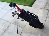 Golf clubs. Full set of irons, driver, 3 wood, Nike putter & golf bag. Good condition