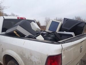 FREE Electronic Pick up TVs,  eWaste -computers Recycling