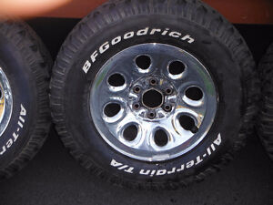 B F Goodrich All Terrain Tires and Chromes Wheels