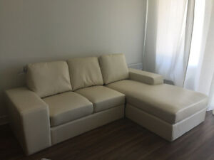 Sectionnel neuf beige, modulaire, sofa,cuir