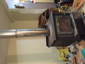 Wood stove with chimney