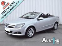 2007 (57) Vauxhall Astra Convertible 1.6 Sport 2-Dr, 93,000 Miles, 4 Owners