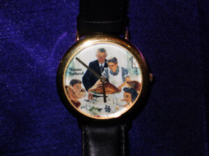 "NORMAN ROCKWELL  Adult Wrist Watch  ""Freedom from Want"""