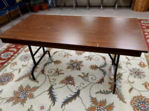 3 Sturdy Folding Tables - $25