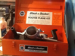 Black and Decker Router Plane Kit