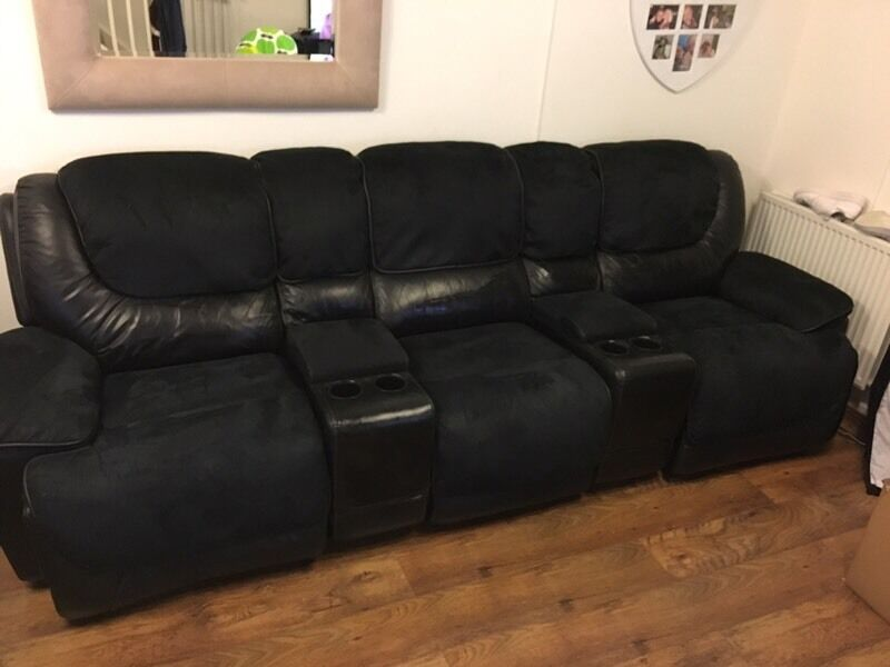 Man Cave Chairs With Cup Holder : Cinema sofa reclining electric cup holders lazy boy