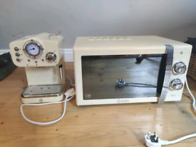 Swan Microwave and Coffee Maker